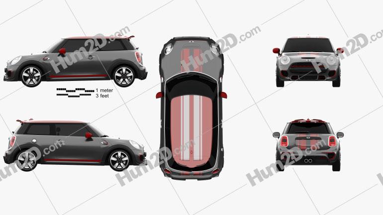 Mini John Cooper Works hardtop 2014 car clipart