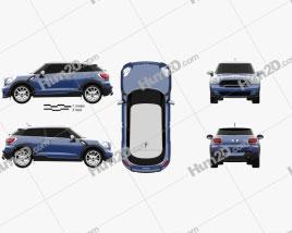 Mini Cooper Paceman S All4 2014 car clipart