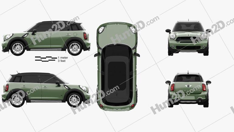 Mini Cooper Countryman SD All4 2014 car clipart