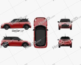 Mini Cooper S F56 hardtop 2015 car clipart