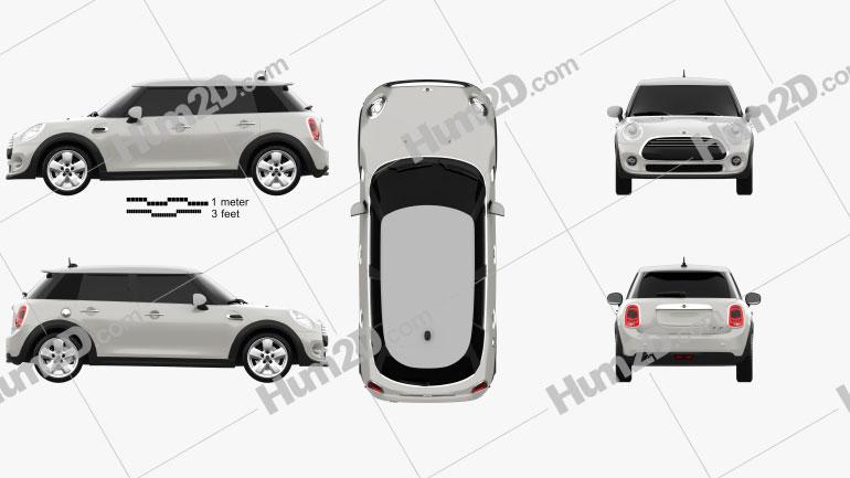 Mini Cooper 5-door 2014 car clipart