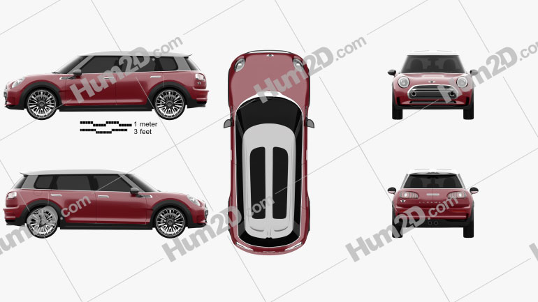 Mini Clubman Concept 2015 car clipart