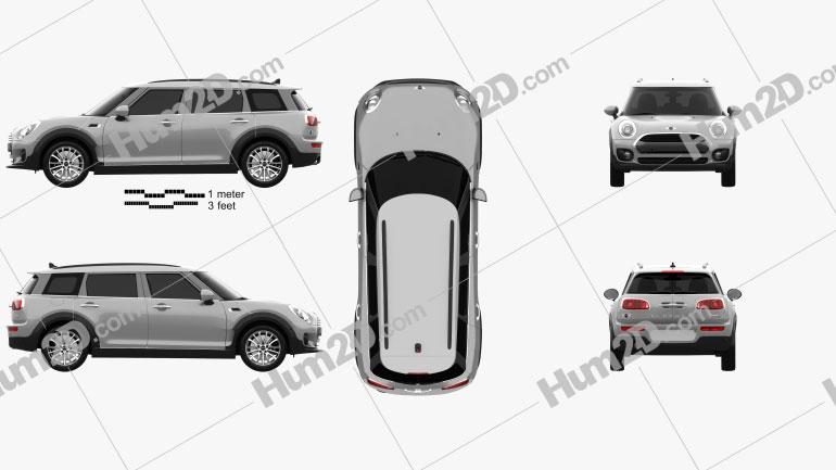 Mini Cooper Clubman D 2016 car clipart