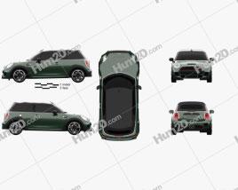 Mini Cooper John Cooper Works convertible 2016 car clipart