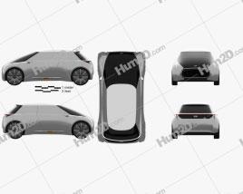 Mini Vision Next 100 2016 car clipart