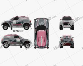 Mini John Cooper Works Rally 2017 car clipart