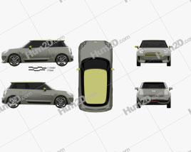 Mini Electric 2017 car clipart