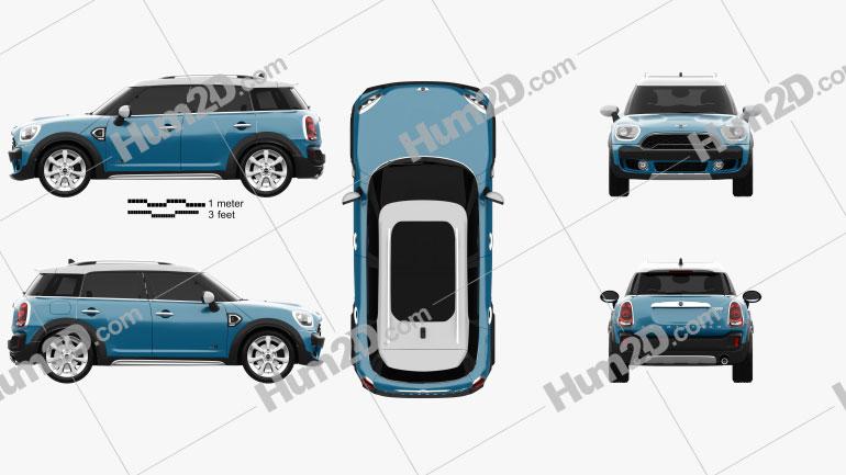 Mini Cooper Countryman S ALL4 2017 car clipart