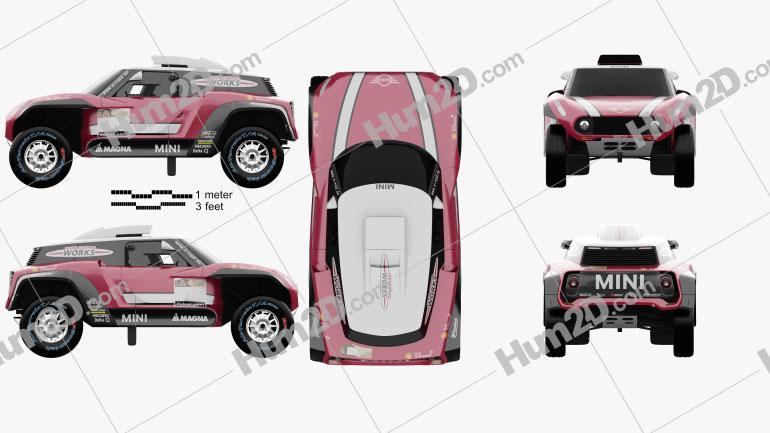 Mini John Cooper Works Buggy 2018 Pink car clipart