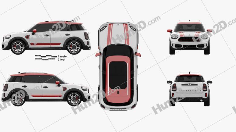 Mini Cooper Countryman JCW 2020 car clipart