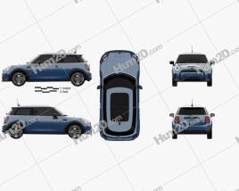 Mini Cooper SE hardtop 2021 car clipart