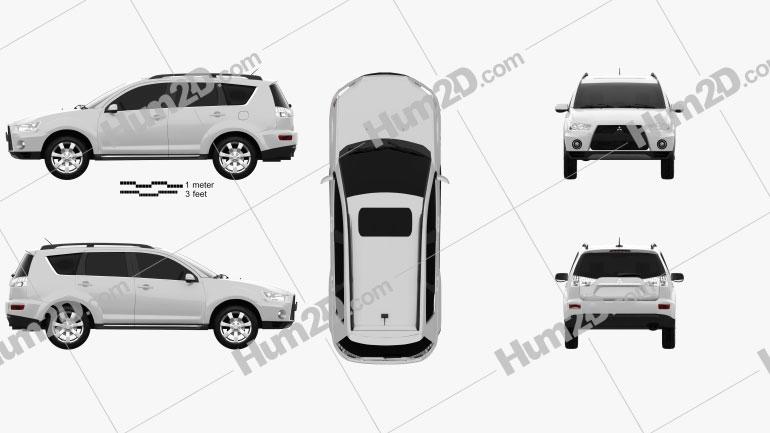 Mitsubishi Outlander GT 2010 car clipart