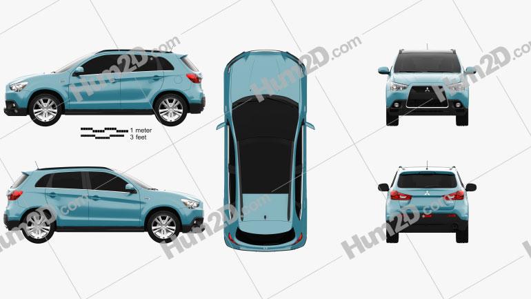 Mitsubishi ASX 2011 car clipart