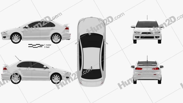 Mitsubishi Lancer Sedan 2009 car clipart