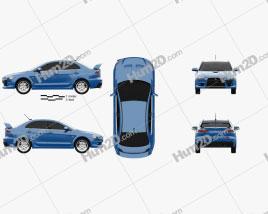 Mitsubishi Lancer Evolution X car clipart