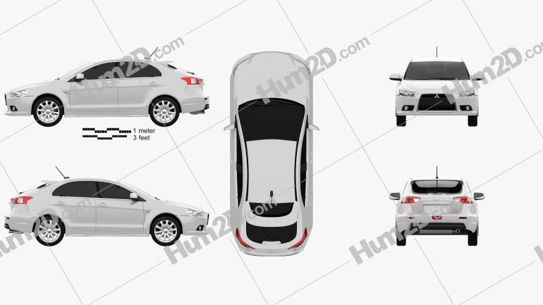 Mitsubishi Lancer Sportback car clipart