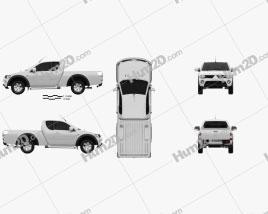 Mitsubishi L200 Triton Club Cab 2011 car clipart