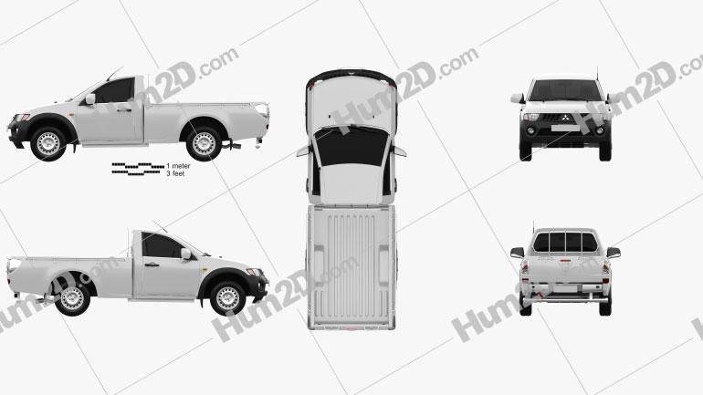 Mitsubishi L200 Triton Single Cab 2011 car clipart