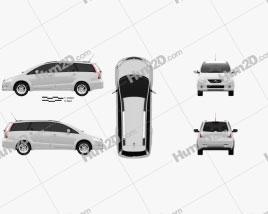 Mitsubishi Grandis 2012 car clipart