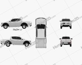 Mitsubishi L200 Triton Doppelkabine 2011 car clipart
