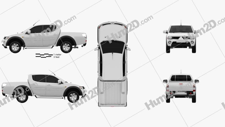 Mitsubishi L200 Triton Double Cab 2011 car clipart