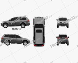 Mitsubishi Pajero Sport 2009 car clipart