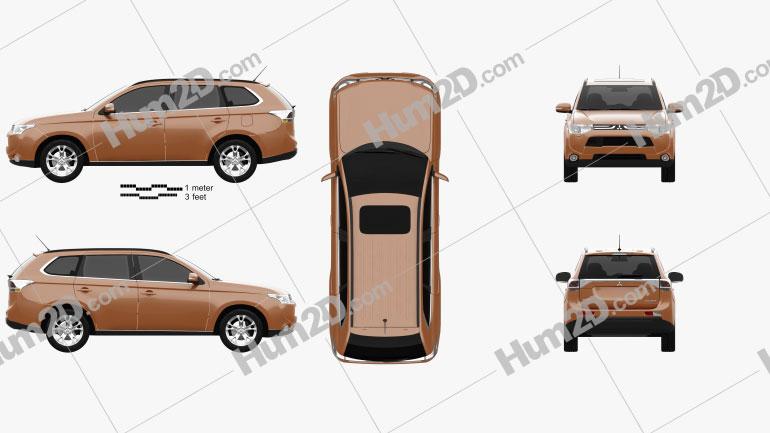 Mitsubishi Outlander 2013 car clipart