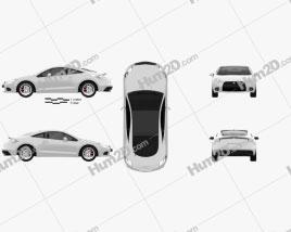 Mitsubishi Eclipse 2012 car clipart