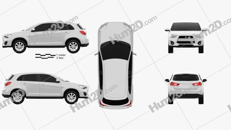 Mitsubishi Outlander Sport (RVR / ASX) 2012 car clipart