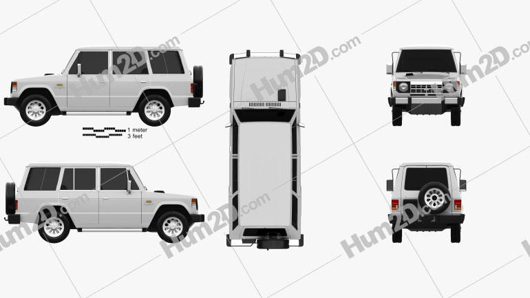 Mitsubishi Pajero (Montero) Wagon 1983 car clipart