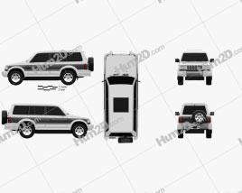 Mitsubishi Pajero (Montero) Wagon 1991