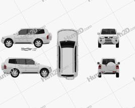 Mitsubishi Pajero (Montero) Wagon 2005 car clipart