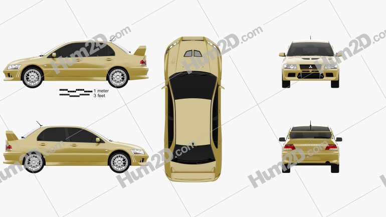 Mitsubishi Lancer Evolution 2001 car clipart