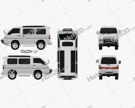 Mitsubishi Delica Star Wagon 4WD 1986 clipart
