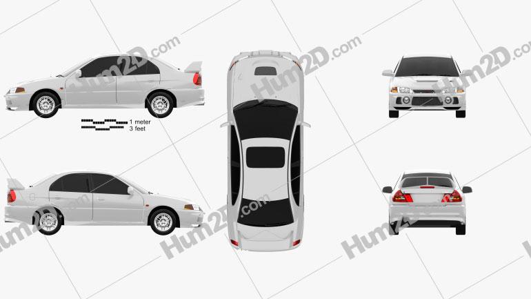 Mitsubishi Lancer Evolution 1997 car clipart