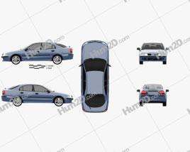 Mitsubishi Carisma liftback 2000 car clipart