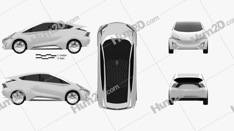 Mitsubishi CA-MiEV 2013 Clipart Image
