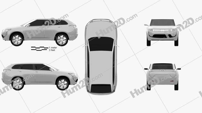 Mitsubishi PX-MiEV 2009 Clipart Image