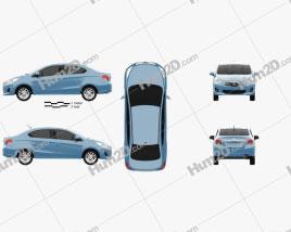Mitsubishi Attrage 2013 car clipart