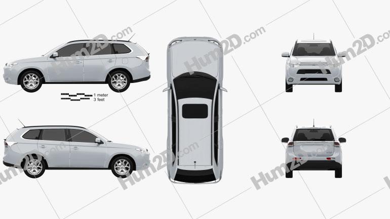 Mitsubishi Outlander PHEV 2013 car clipart