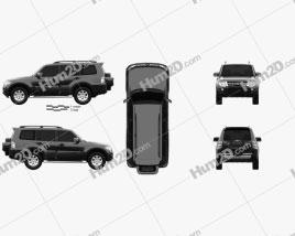 Mitsubishi Pajero (Montero) Wagon 2011 car clipart