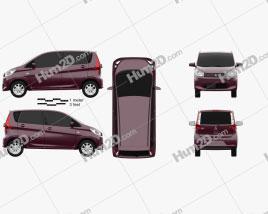 Mitsubishi eK Wagon 2013 car clipart