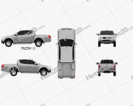 Mitsubishi L200 Triton Double Cab HPE 2012 car clipart