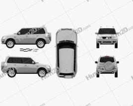 Mitsubishi Pajero TR4 2012 car clipart