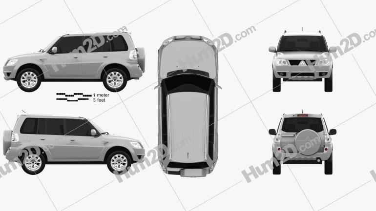 Mitsubishi Pajero TR4 2012 Clipart Image