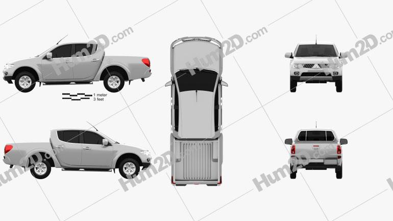 Mitsubishi L200 Triton Double Cab 4Life 2012 car clipart