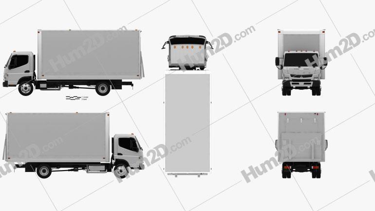 Mitsubishi Fuso Box Truck 2013 clipart