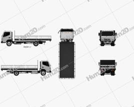 Mitsubishi Fuso Flatbed Truck 2013 clipart