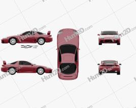 Mitsubishi 3000GT 1999 car clipart