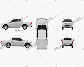 Mitsubishi L200 Triton Double Cab 2012 car clipart